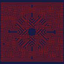 Suns Of Arqa - Muslimgauze - Blue And Red Edition